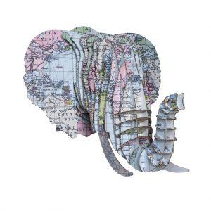 Elefante Mapa Mundo