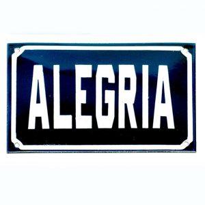 Placa Alegría