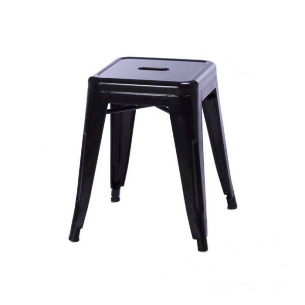 Taburete Tolix Negro - 45 cm