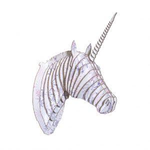 Unicornio Estrellas Morado